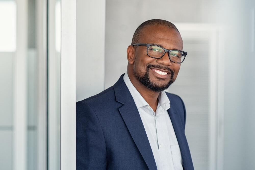 Smiling Black Business Man
